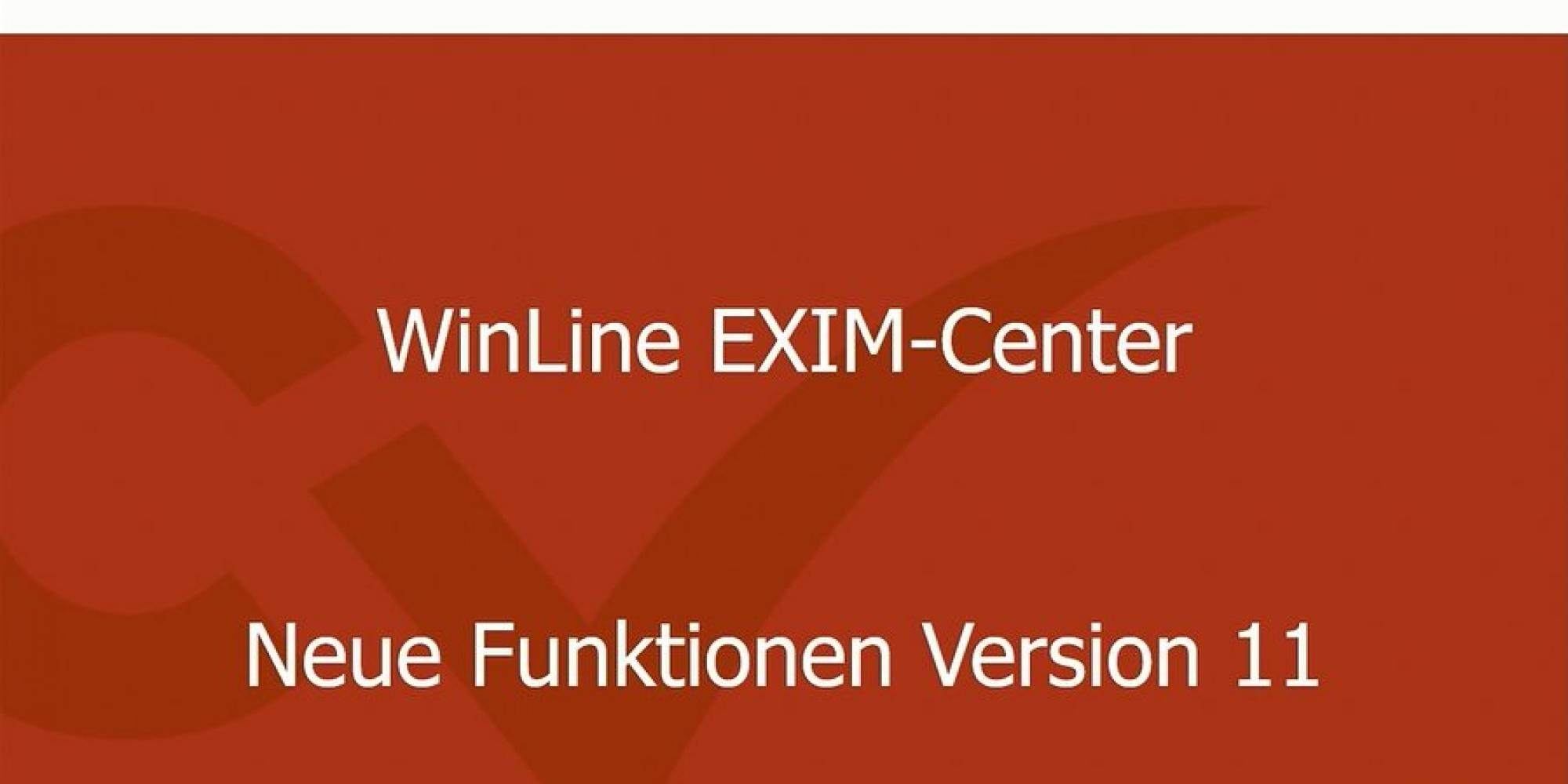 Video WinLine 11.0 - EXIM-Center