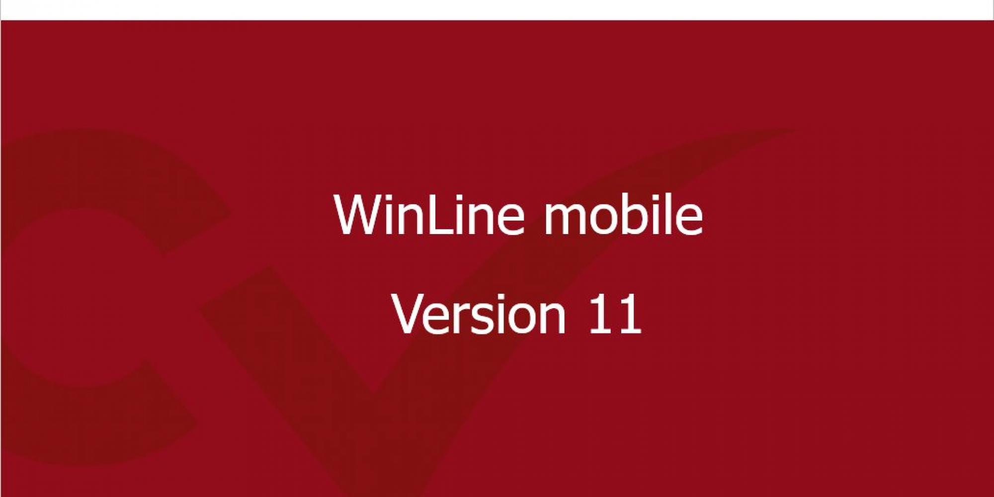 WinLine mobile Version 11 Highlights